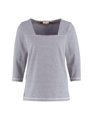 Deerberg Jersey-Shirt Agna marine-cremeweiß