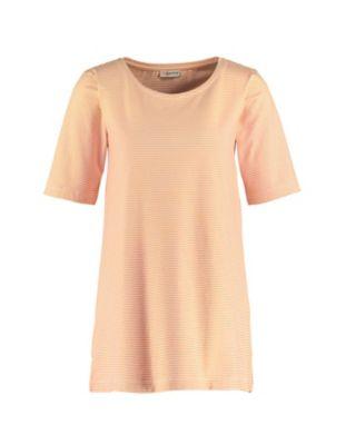 Deerberg Jersey-Shirt Erwine aprikose-cremeweiß