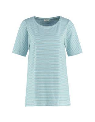 Deerberg Jersey-Shirt Erwine kupfergrün-cremeweiß