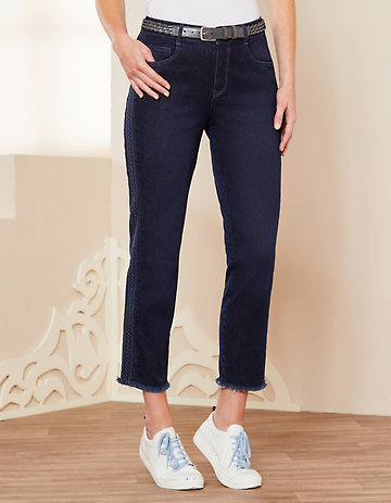 Deerberg Slim-Fit-Jeans Vicki dark-denim