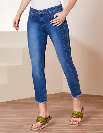 Deerberg Slim-Fit-Jeans Vicki blue-used