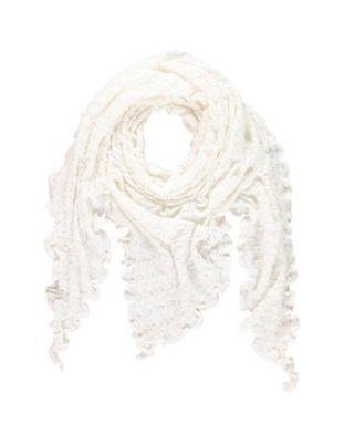 Deerberg Ajourstrick-Dreiecktuch Sharina cremeweiß