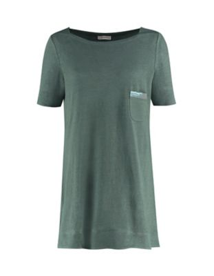 Deerberg Leinenjersey-Shirt Nastasja algengrün