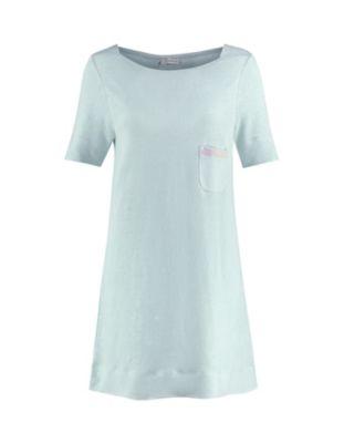 Deerberg Leinenjersey-Shirt Nastasja gletscherblau