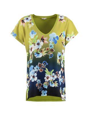 Deerberg Shirt Traudi avocadogrün-bunt