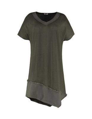 Deerberg Leinenjersey-Shirt Meranda olivgrün