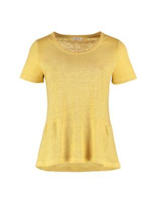 Deerberg Leinenjersey-Shirt Darnelle hafergelb