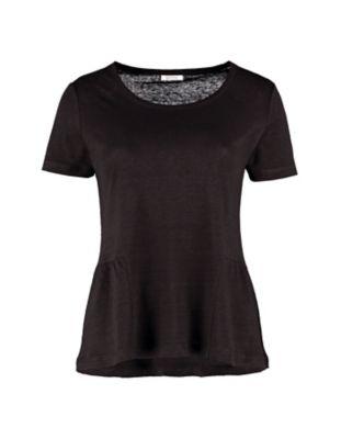 Deerberg Leinenjersey-Shirt Darnelle schwarz
