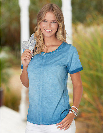 Deerberg Shirt Narda balticblau-washed