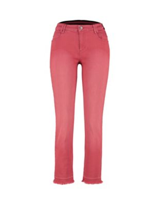 Deerberg Slim-Fit-Jeans Melonie nelkenrot-washed