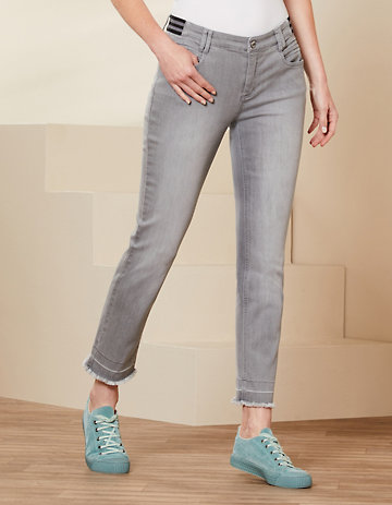 Deerberg Slim-Fit-Jeans Melonie felsgrau-washed