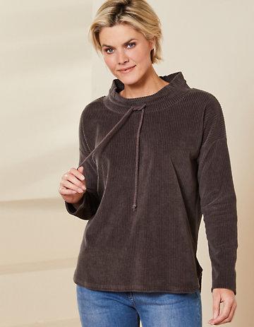 Deerberg Nicki-Cord-Shirt Aljonna asphalt