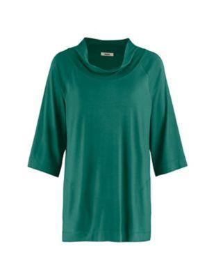 Deerberg Jersey-Shirt Ermintrud wacholdergrün