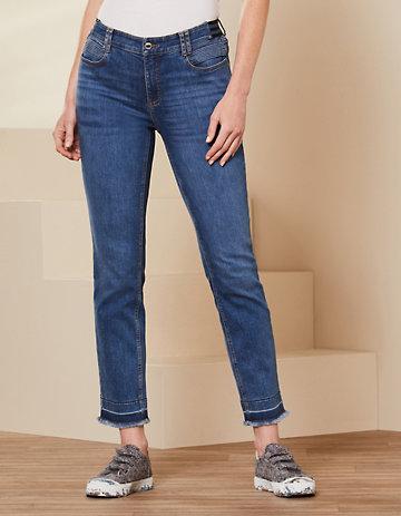 Deerberg Slim-Fit-Jeans Melonie blue-used