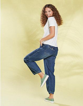 Deerberg Stretch-7/8-Jeans Babette blue-used