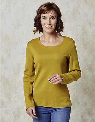 Deerberg Jersey-Shirt, langarm Cora senf