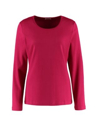 Deerberg Jersey-Shirt, langarm Cora dahlie