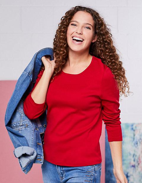 Deerberg Jersey-Shirt, langarm Cora