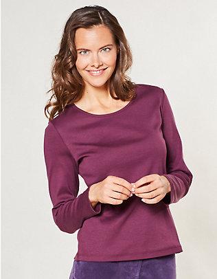 Deerberg Jersey-Shirt, langarm Cora rote-bete