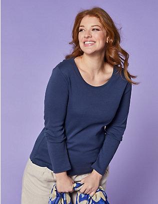 Deerberg Jersey-Shirt, langarm Cora marine