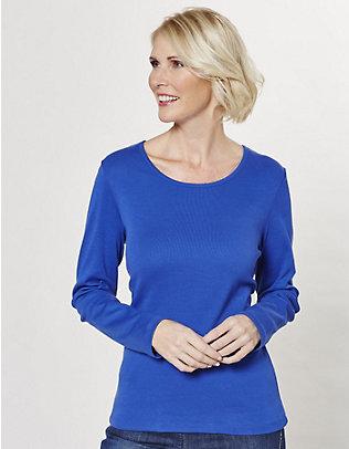 Deerberg Jersey-Shirt, langarm Cora königsblau