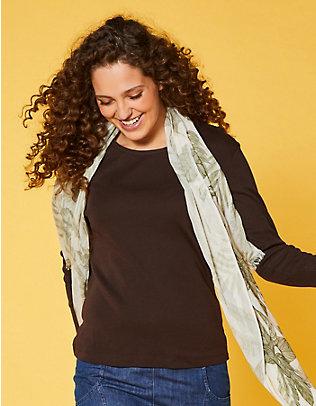 Deerberg Jersey-Shirt, langarm Cora zartbitter