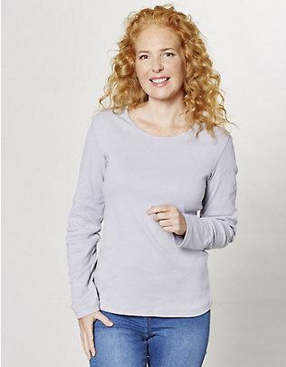 Deerberg Jersey-Shirt, langarm Cora silbergrau