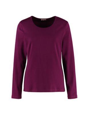 Deerberg Jersey-Shirt Cora dunkelpurpur