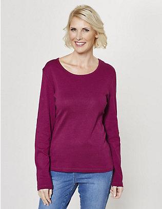 Deerberg Jersey-Shirt, langarm Cora purpur