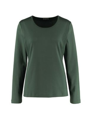 Deerberg Jersey-Shirt Cora algengrün