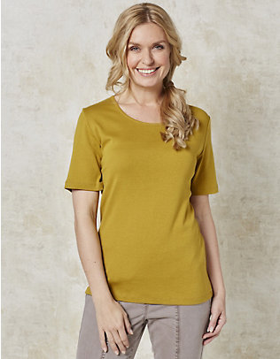 Deerberg Jersey-T-Shirt Feli senf