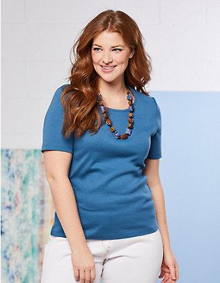 Deerberg Jersey-T-Shirt Feli dunkelpetrol