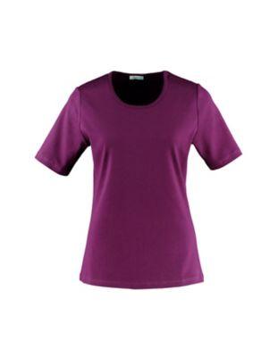 Deerberg Jersey-T-Shirt Feli dunkelpurpur