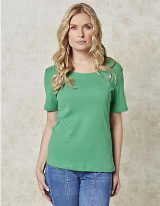 Deerberg Jersey-T-Shirt Feli blaugrün