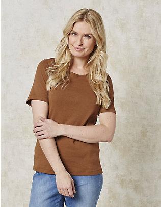 Deerberg Jersey-T-Shirt Feli haselnuss