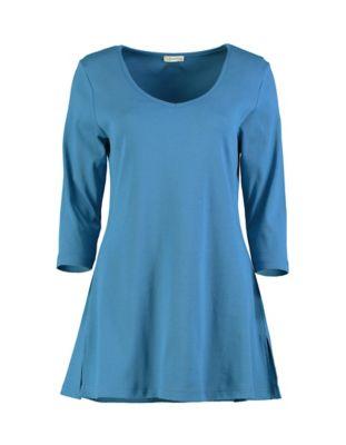 Deerberg Jersey-Shirt Josi dunkelpetrol