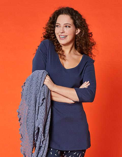 Jersey-Longshirt Josi | Bekleidung > Shirts > Longshirts | Jersey - Baumwolle | Deerberg