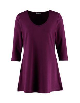 Deerberg Jersey-Shirt Josi dunkelpurpur