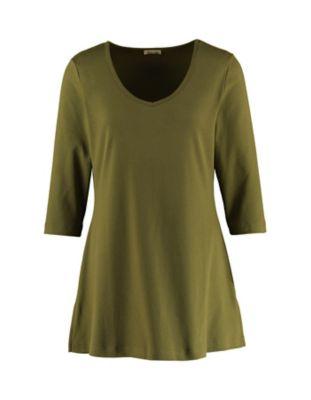 Deerberg Jersey-Shirt Josi quarzgrün