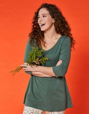 Deerberg Jersey-Shirt Josi algengrün