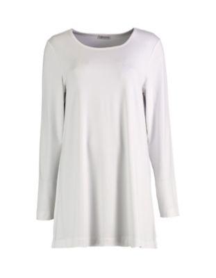 Deerberg Jersey-Longshirt Pelin cremeweiß