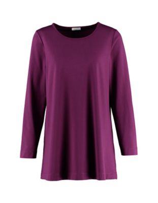 Deerberg Jersey-Shirt Pelin dunkelpurpur
