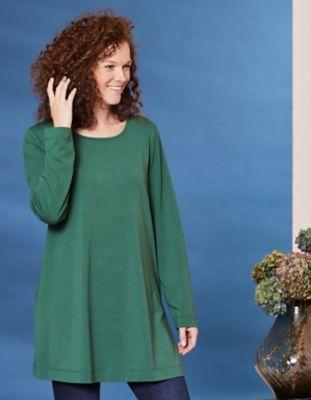 Deerberg Jersey-Shirt Pelin zederngrün