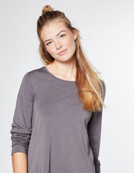 Jersey-Longshirt Pelin, grau