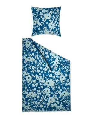 Deerberg Wohntextilien Flanell-Bettwäsche Freta tiefseepetrol-lichtblau