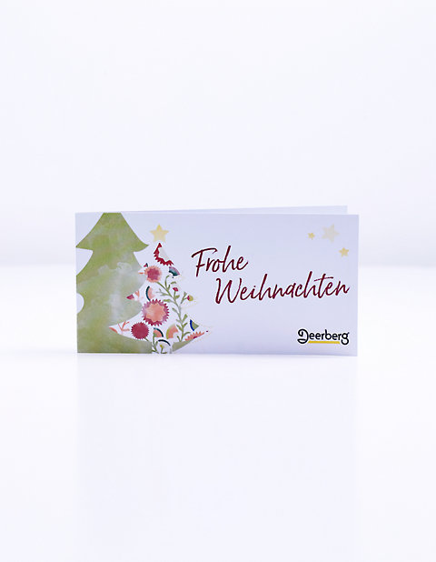 Geschenkgutschein 15 € € - Weihnachten Tanne