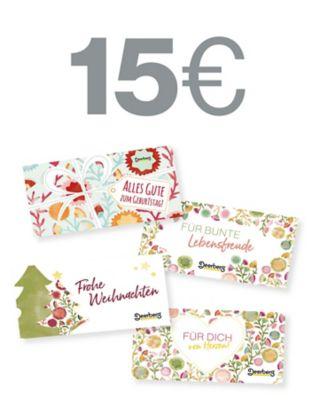 Geschenkgutschein 15 € €- Lebensfreude Lebensfreude