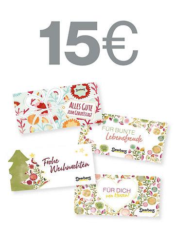 Geschenkgutschein 15 € €- Von Herzen Von Herzen