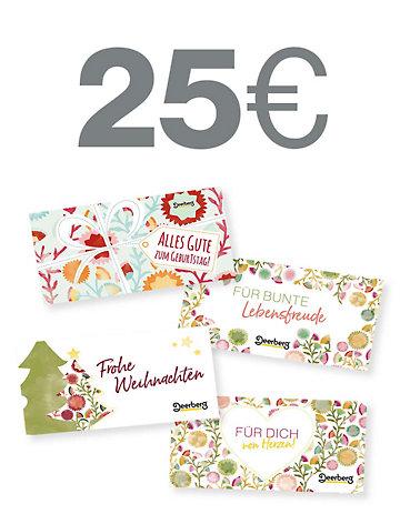 Geschenkgutschein 25 € - Lebensfreude Lebensfreude