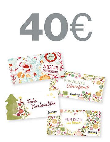 Geschenkgutschein 40 € €- Lebensfreude Lebensfreude